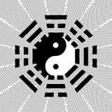 Tai-Chi und bagua Symbol Stockbild