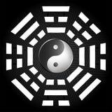 Tai-Chi und bagua Symbol Stockfotos