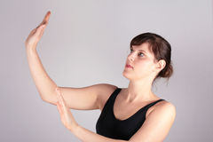 Tai Chi Woman Stock Images