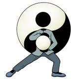 Tai chi yin en yang Royalty-vrije Stock Foto's