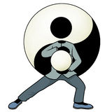 Tai chi yin and yang Royalty Free Stock Photos