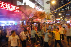 Tai Hang Fire Dragon Dance 2016 Fotografia Stock