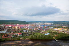 Tai Hing Lam district Root River City Mangui town panorama Royalty Free Stock Images