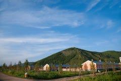 Tai Hing Lam-districtsstad van gecondenseerd Greenfield Mangui Royalty-vrije Stock Foto
