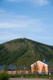 Tai Hing Lam-districtsstad van gecondenseerd Greenfield Mangui stock afbeeldingen