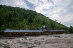 Tai Hing zwiania okręgu korzenia miasta Mangui Rzeczny miasteczko przy stopą sceniczny deptaka kondensata Greenfield zdjęcie stock