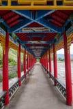 Tai Hing zwiania okręgu korzenia miasta Mangui Rzeczny miasteczko przy stopą sceniczny deptaka kondensata Greenfield obraz royalty free