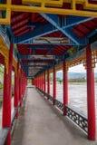 Tai Hing zwiania okręgu korzenia miasta Mangui Rzeczny miasteczko przy stopą sceniczny deptaka kondensata Greenfield obrazy royalty free