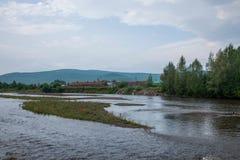 Tai Hing zwiania okręgu korzenia Rzeczny miasto Mangui stopa sceniczny miasteczko Greenfield kondensata wody park obraz stock
