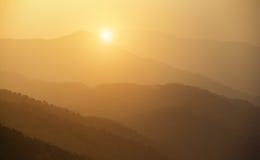 Tai Mo Shan sunset Royalty Free Stock Photo