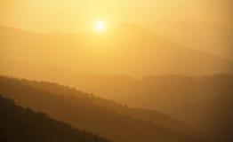 Tai Mo Shan sunset Royalty Free Stock Image