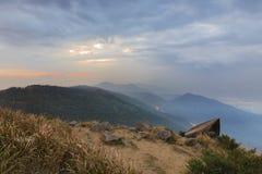 Tai Mo Shan sunset Stock Image