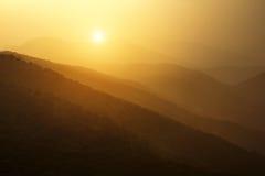 Tai Mo Shan sunset Stock Photos