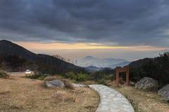 Tai Mo Shan sunset Royalty Free Stock Photography