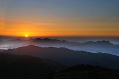 Tai Mo sunrise Stock Image