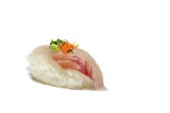 Tai-nigiri Sushi im Weiß Stockfoto