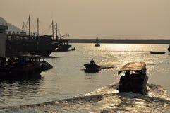 Tai O渔夫村庄,香港 库存图片