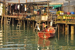Tai O fishing village, Lantau island Hong Kong. The fishing town of Tai O, on the Lantau island, Hong Kong, China. Stilt houses Royalty Free Stock Photography