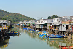 Tai O fishing village. In Hong Kong Stock Images