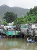 Tai O fishing village Royalty Free Stock Photography