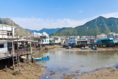 Tai O Fishing Village, Hong Kong. Royalty Free Stock Photos