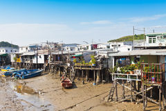 Tai O Fishing Village, Hong Kong. Royalty Free Stock Photo