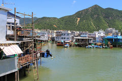 Tai O fishing village in Hong Kong Royalty Free Stock Images