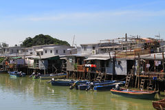 Tai O fishing village in Hong Kong Stock Photos