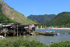 Tai O fishing village in Hong Kong Stock Photography