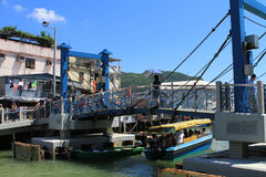 Tai O fishing village in Hong Kong Stock Photo