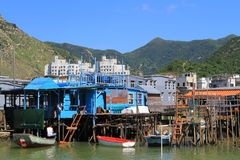 Tai O fishing village in Hong Kong Royalty Free Stock Photos
