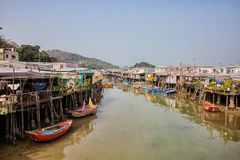 Tai O fishing village, Hong Kong Royalty Free Stock Images