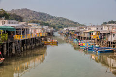 Tai O fishing village, Hong Kong Stock Images