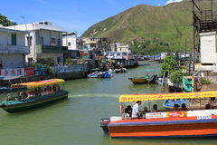 Tai O fishing village in Hong Kong Stock Image
