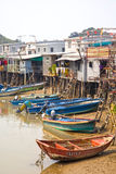 Tai O Fishing Village, Lantau Island, Hong Kong, China. Royalty Free Stock Images