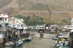 Tai O fishing village in Lantau island Stock Images