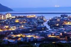 Tai O fishing village at night in Hong Kong Royalty Free Stock Image
