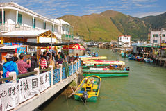 Tai O Fishing Village is a Popular Tourist Destination Royalty Free Stock Photos