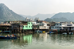 Tai O fishing village stilt houses in Hong Kong Royalty Free Stock Photos