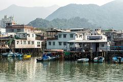 Tai O fishing village stilt houses in Hong Kong Royalty Free Stock Images