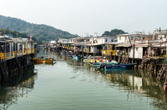 Tai O fishing village stilt houses in Hong Kong Stock Photo