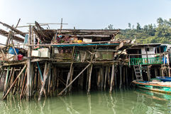 Tai O fishing village stilt houses in Hong Kong Stock Image