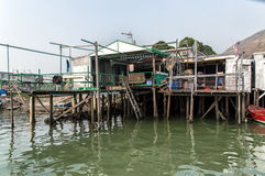 Tai O fishing village stilt houses in Hong Kong Royalty Free Stock Photo