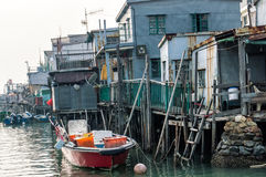 Tai O fishing village stilt houses in Hong Kong Stock Images