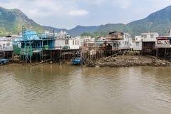Tai O het Eiland Hong Kong van Lantau van het visserijdorp Stock Foto