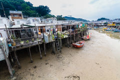 Tai O het Eiland Hong Kong van Lantau van het visserijdorp Royalty-vrije Stock Afbeeldingen