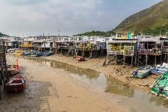 Tai O het Eiland Hong Kong van Lantau van het visserijdorp Stock Fotografie
