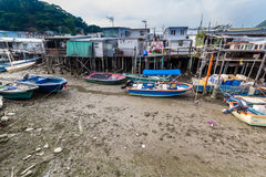Tai O het Eiland Hong Kong van Lantau van het visserijdorp Royalty-vrije Stock Fotografie