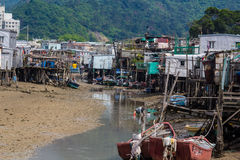 Tai O het Eiland Hong Kong van Lantau van het visserijdorp Stock Afbeeldingen