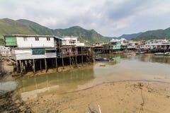 Tai O het Eiland Hong Kong van Lantau van het visserijdorp Stock Foto's